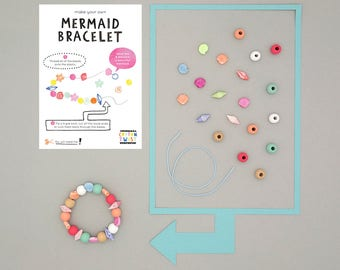 Make Your Own Mermaid Bracelet Kits - Perfect for Party Bags