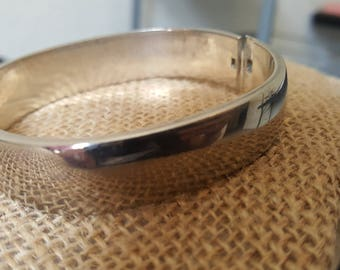 Vintage 925 Silver Bangle Bracelet, 69 grams. Nice piece