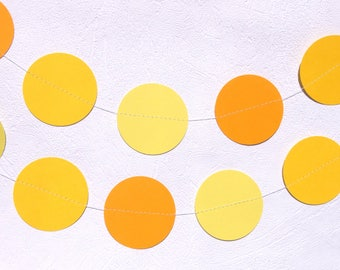 Yellow Circle Garland - Yellow Wedding Decor - Garden Party Decorations - Easter Decorations