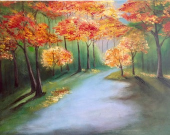 "Acrylic painting ""Autumn"", canvas, original"