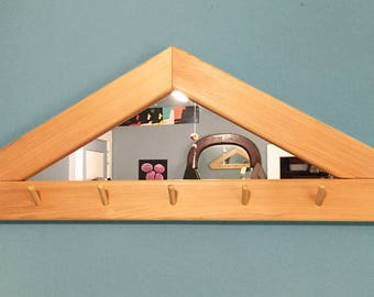 Triangle Mirror and Coat Rack
