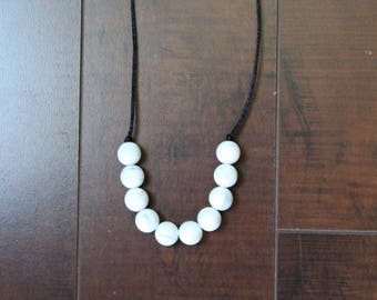 Round Silicone Bead Teething or Nursing Necklace