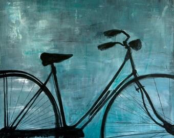 Blue Bike Original Painting