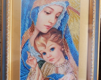 Picture/Gifts for women/Gifts for mom/Wall art/Madonna and Child/Home and Living/Icons