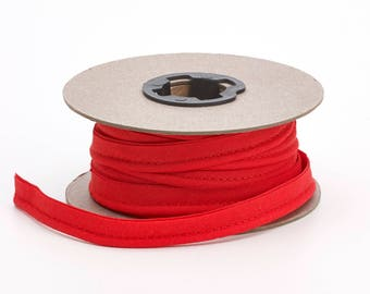 "Broadcloth cord piping, 1/2"" Wide, 15 yds, Red"