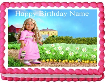 AMERICAN GIRL CAROLINE Edible cake topper party image
