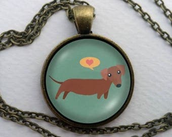 "The Otto--Dachshund Love ""Wearable Weiner"" Necklace"