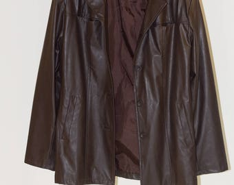 Body&CO. Brown faux leather jacket