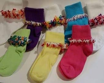 Fancy Beaded Socks