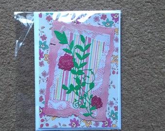 Stunning shabby chic handmade greeting card