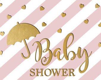 Pink Gold Baby Shower