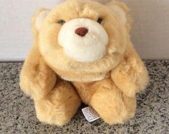 "Vintage 1980 Gund Snuffles Light Brown 6.5"" Stuffed Animal Plush Toy Korea"