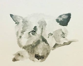 Custom Watercolours - Dog