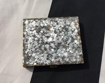 Star Lucite Compact Mirror Case 1950s Vintage