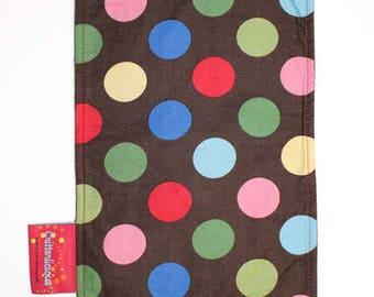 Critterlicious Colorful Polka Dots Burp Cloth
