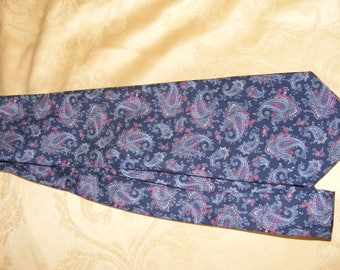 Vintage Rael Brook Blue Paisley Necktie - 1970s - Polyester