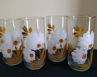 Vintage Hand Painted Juice Glasses
