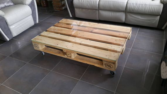 Table basse industrielle one palette - Table basse palette industrielle vintage ...