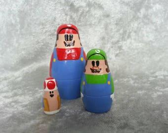 Mario nesting doll set
