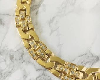 crystal accent collar necklace