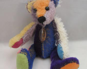 "OOAK mohair bear 9"" Itty Bitty"