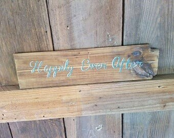 Happily Ever After - Custom Rustic Wood Wedding Sign - Wall Decor