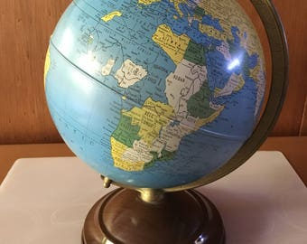 Vintage 1940's Replogle 8 inch World Globe