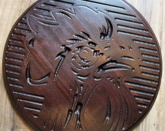 Rooster Carving Decorative Wall Hanging