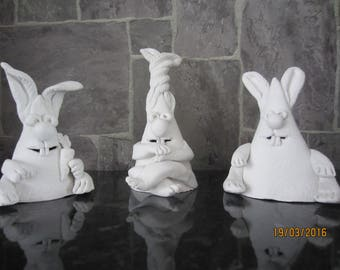 Funny figures out of clay. Rabbit.