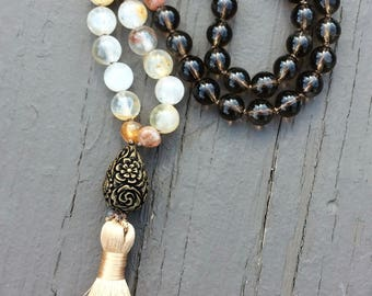 54 Bead Smoky Quartz Half Mala