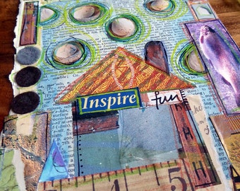 Inspire Fun - Altered Book Page