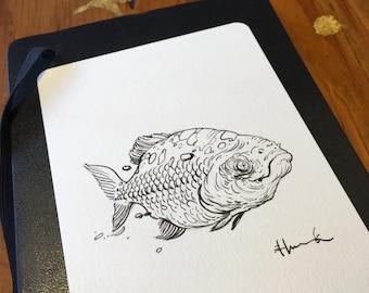 """4"""" x 6"""" Original Animal Drawing, Drawn to Order"""