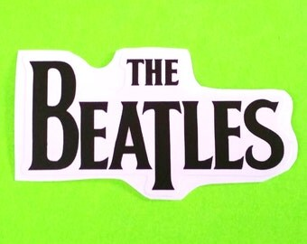 The Beatles Rock Band Logo Apple Records Black and White Waterproof Vinyl Sticker
