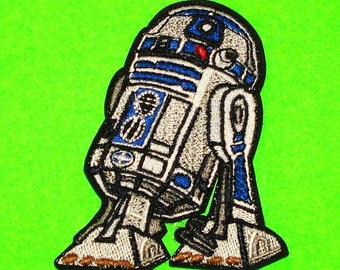 Star Wars R2D2 Original Series Galactic Empire Republic Rebel Alliance Android Droid Robot Fully Embroidered Iron or Sew On Patch
