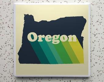 Oregon Rise Tile Coaster