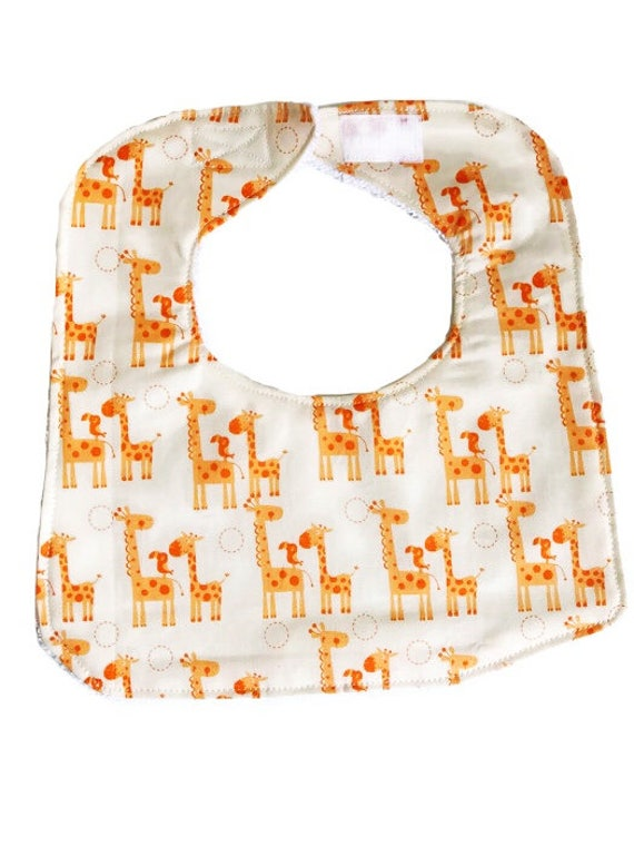 Giraffes Baby Bib, Baby Shower Gift, Baby Boy Bib, Drool Bib, Newborn Bib, Infant Bib
