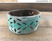 SUPER SALE- Reserved-Custom Leather Cuff-Create Your Own-Floral Cuff-Word Cuff-Hand Painted