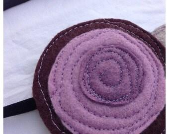 40% OFF- Felt Headband/Brooch-The Little Garden Bloom-Single Bloom-Plum