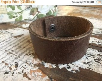 40% OFF- Custom Leather Cuff-Create Your Own-Worn Leather-Word Cuff