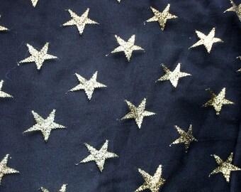 Gold Stars Sparkly Mesh