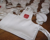 Wine Bottle Chef's Aprons & hats Made and RESERVED FOR Lara Scheer