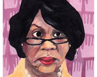 Congresswoman Maxine Waters, 2017 - Postcard - Write Your Reps