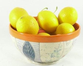 Stoneware Bowl, Handmade Pottery Soup Bowl, Colorado pottery, Ceramic Salad Bowl, Ceramics and Pottery, Key Bowl, Home Decor 597
