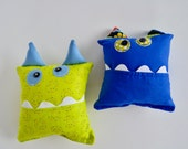 Monster Tooth Pillow - Boys Tooth Pillow - Boy Tooth Pillow - Gift for Boys - Green Monster Pillow - Modern Boys Tooth Pillow
