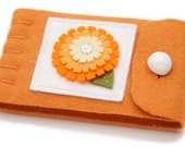 Small Needle Case, Travel Needle Minder, Sewing Supply, Gift For Quilter, Wool Pin Keeper, Embroidered Felt Flower, Handmade Sewer Gift