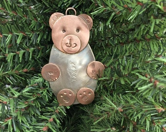 Spoon Teddy Bear Ornament