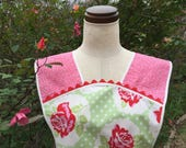Stop and Smell the Roses -  Vintage Everyday Housewife Apron -Medium to Large Size - Reserved for Sarah