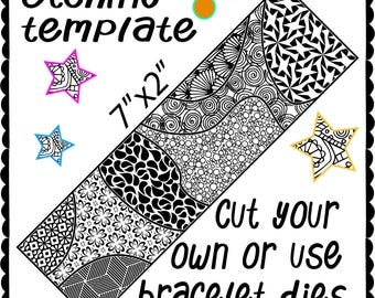 Etching Metal template, make your own design shaped cuff bracelet Digital Download -DT-swa-4/21-2