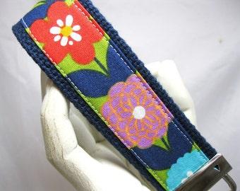 Wristlet Key Chain Key Fob Springtime Flowers