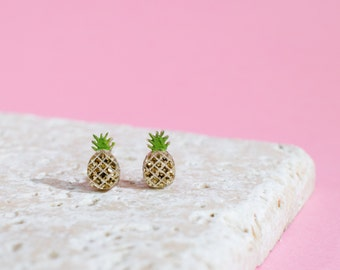 Pineapple Earrings - Pineapple Studs - Pineapple Jewellery - Fruit Earrings - Pineapple Gift - Fruit Earrings - Fruit Studs